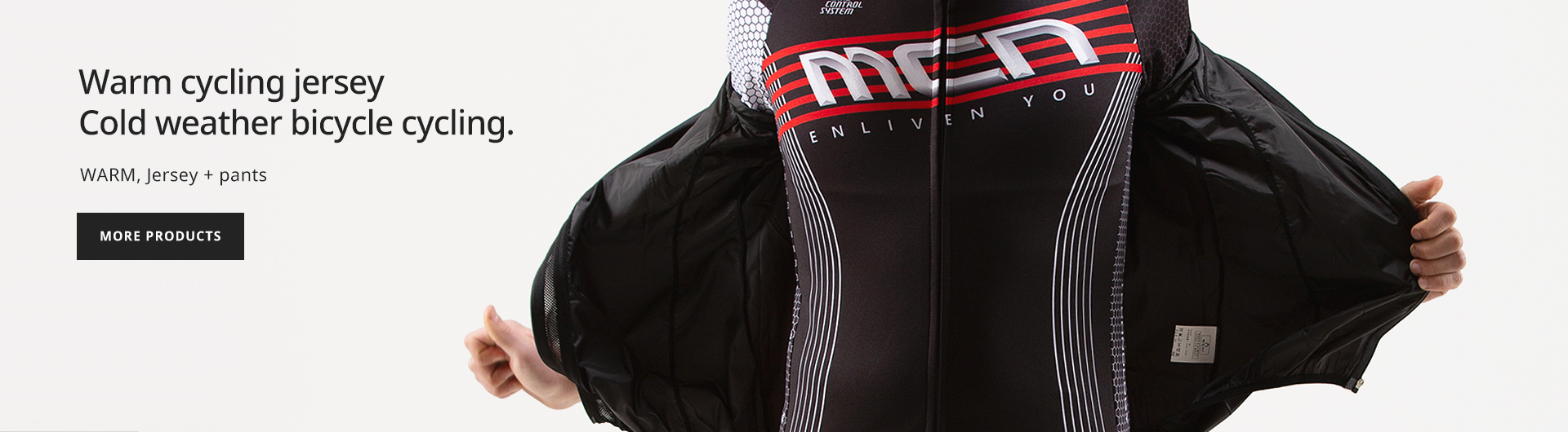 Warm cycling jersey Cold weather bicycle cycling.